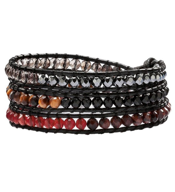 OKAJEWELRY Gemstone Crystal Rhinestone Bracelet - CE11Y0R0YMF