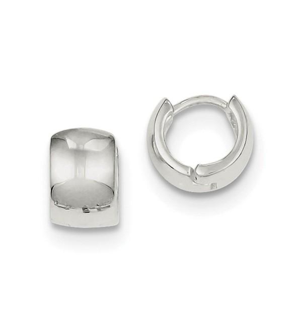 Sterling Silver Polished Hinged Hinged Huggy Earrings (8MM Long x 6MM Wide) - CS119CBHOGN