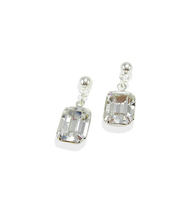 LJ Designs Striking Crystal Octagonal Drop Earrings (E85) - Made With Crystals From Swarovski - CY112N7EP3X