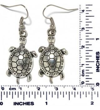 AnsonsImages Turtle Dangle Earrings Metallic