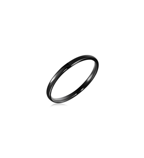 2 mm Black Domed Tungsten Wedding Band - CI11BUDWT07