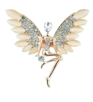 CHUYUN Crystal Angel with Wings Crystal Delicate Brooch Pins for Women or Girls - CY1862CMKS5