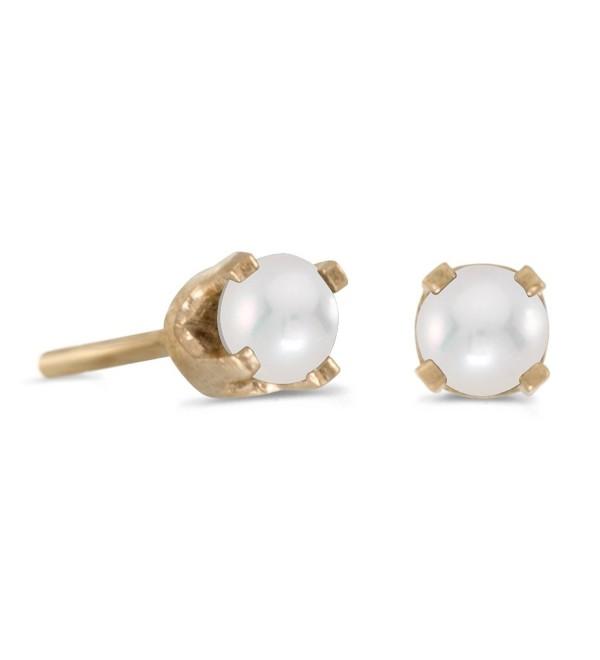 3 mm Petite Freshwater Cultured Pearl Stud Earrings in 14k Yellow Gold - CX115DGTPYZ