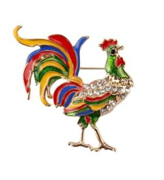 Crystal Rhinestone Cock Rooster Brooches Fashion Costume Brooch Pin jewelry - CI12NSJ5BQB