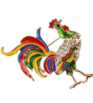 Crystal Rhinestone Rooster Brooches Fashion in Women's Brooches & Pins