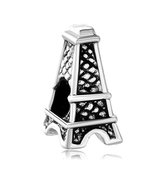 LovelyJewelry France Eiffel Tower Charm Beads Charm Bracelets - C511RB3U7G3