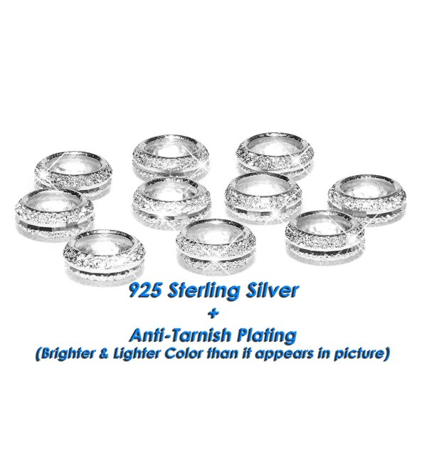 Sterling Silver Spacer Anti Tarnish Bracelets - White Silver - CA12EPG8B6V