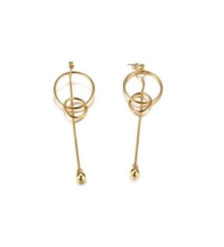 PJ Jewelry Minimalist Interlock Vertical in Women's Drop & Dangle Earrings