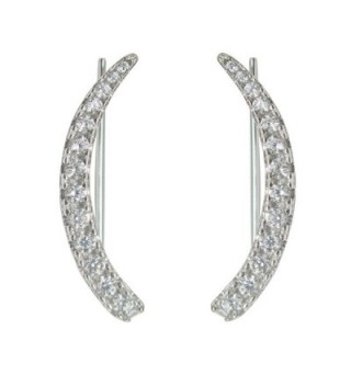 Sterling Zirconia Climber Crawler Earrings