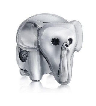 Good Luck Animal Lucky Elephant 925 Sterling Silver Bead Fits European Charm Bracelet - Silver 1 - CI127AT8Q7D