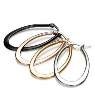 Jstyle Pairs Stainless Teardrop Earrings in Women's Hoop Earrings