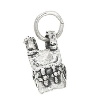 Sterling Silver Three Dimensional Backpack Charm - CF1172MYPPR