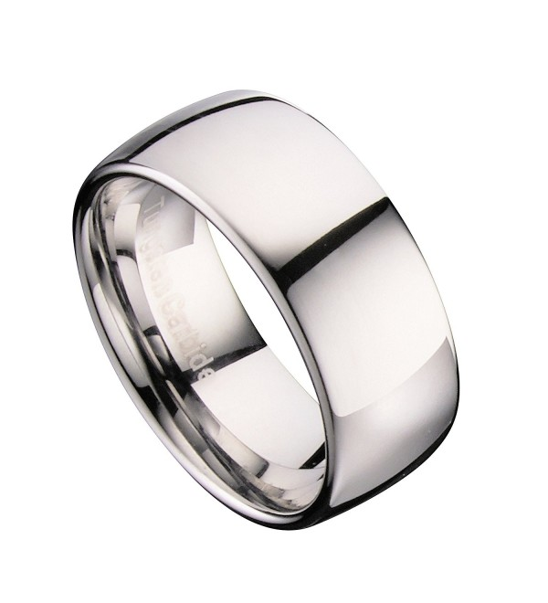 MJ 10mm Tungsten Carbide Classic Wedding Ring Polished Band - C0122WNNX49