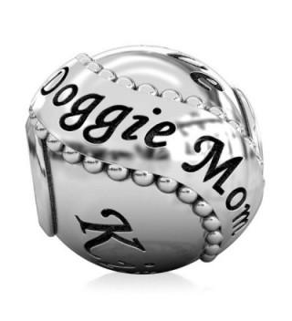 BELLA FASCINI Family Pet DOGGIE MOM Silver DOG Bead Fits European Charm Bracelets and Bangles - CP12FNEZEGJ
