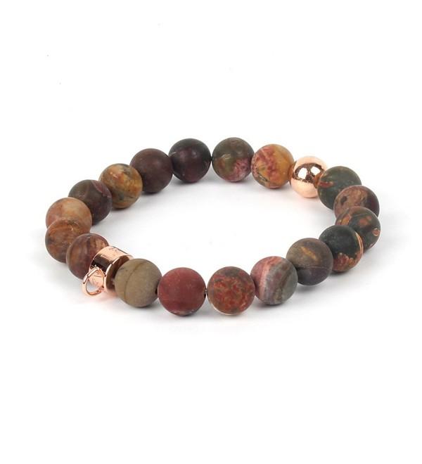 Shinus Bracelet Handmade Gemstone Fashion - Picasso Jasper - C4182HHCZ7M