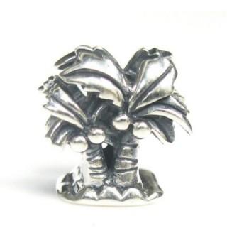925 Sterling Silver Hawaii Beach Vocation Coconut Palm Tree Bead For European Charm Bracelets - CR11LIRTWV9