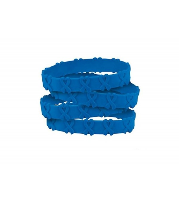 25 Blue Awareness Pop-Out Bracelets colon- colorectal cancer- child abuse- respiratory - CZ182GQD27D
