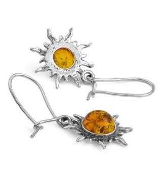 Amber Sterling Silver Romantic Earrings