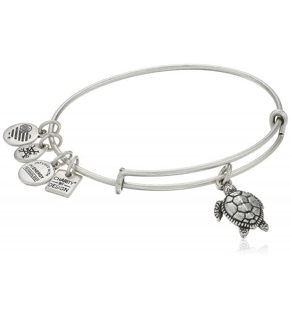 Alex and Ani Charity By Design Turtle Rafaelian Bangle Bracelet - Rafaelian Silver - CT12ID51BIF