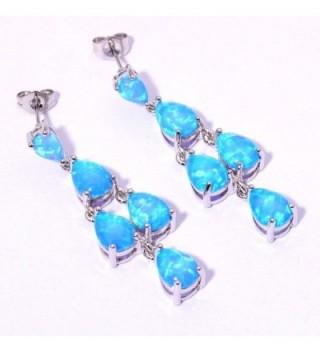 CiNily Jewelry Gemstone Rhodium Earrings in Women's Drop & Dangle Earrings