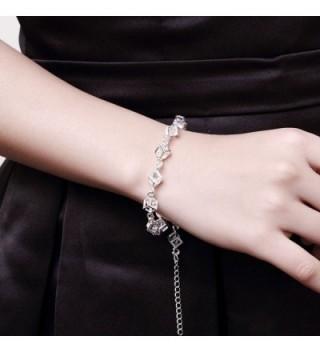 Zircon Bracelet Sterling Silver Jewelry in Women's Link Bracelets