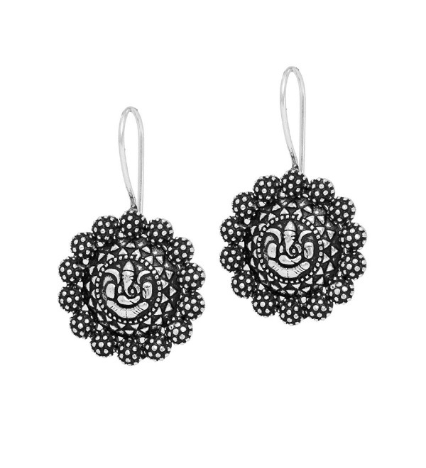 Jaipur Mart Indian Bollywood Oxidised Dangle Earrings Silver Jewellery Gift - CS17Y02QODK