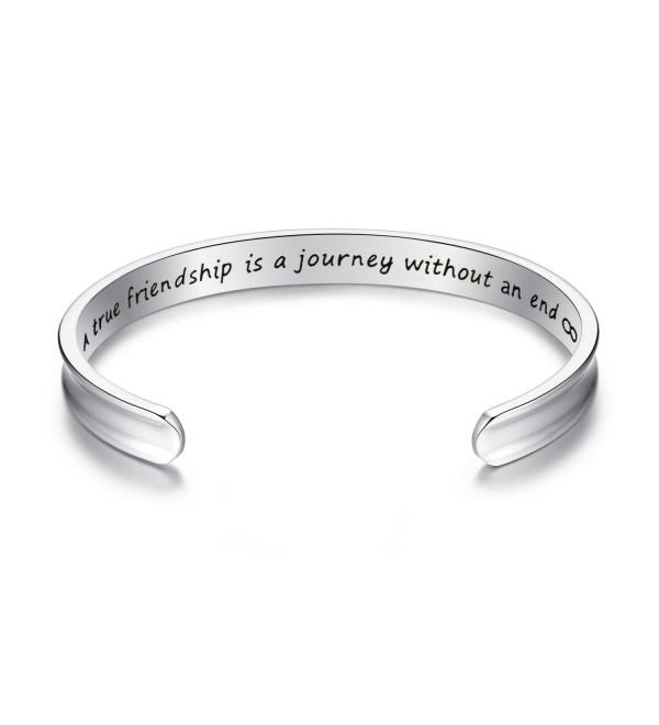Yoomarket friendship Friendship Inspirational Jewelry Silver - Silver-Grooved - C8189KXZQQE