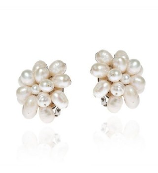 Pretty Cultured Freshwater Cluster Earrings