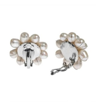 Pretty Cultured Freshwater Cluster Earrings in Women's Clip-Ons Earrings