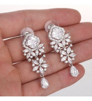 Wordless Love Princess Zirconia Teardrop in Women's Drop & Dangle Earrings