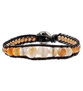 OKA JEWELRY Gemstone Rhinestone Bracelet in Women's Wrap Bracelets
