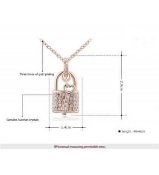 Fashion Austrian Crystal Padlock Necklace