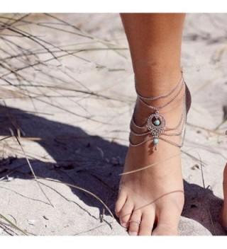 Franterd Womens Barefoot Turquoise Jewelry