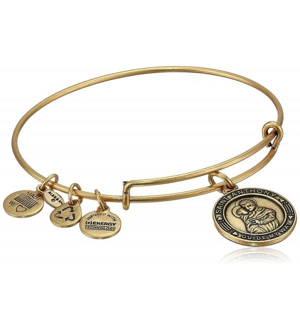 """Alex and Ani Bangle Bar """"St. Anthony"""" Rafaelian Gold-Tone Expandable Bracelet - C2118VNE0MT"""