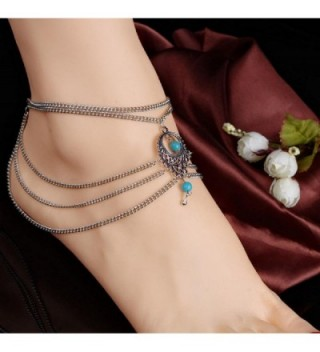 Franterd Womens Barefoot Turquoise Jewelry in Women's Anklets