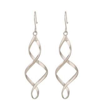 Lureme Silver Twisted Earrings 02004774 in Women's Drop & Dangle Earrings