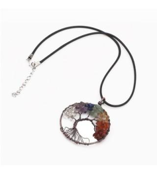 Tree Chakra Gemstone Necklace Crystals