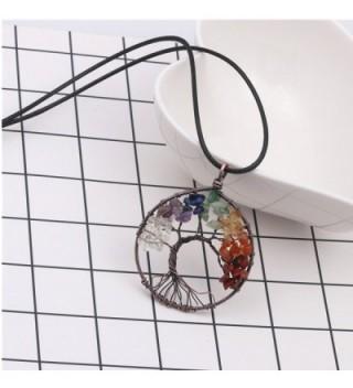 Tree Chakra Gemstone Necklace Crystals in Women's Pendants
