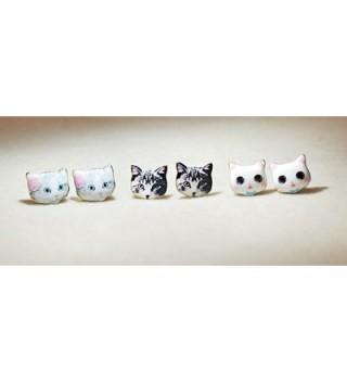 CUTIEJEWELRY Pretty Kitty Earrings Women in Women's Stud Earrings