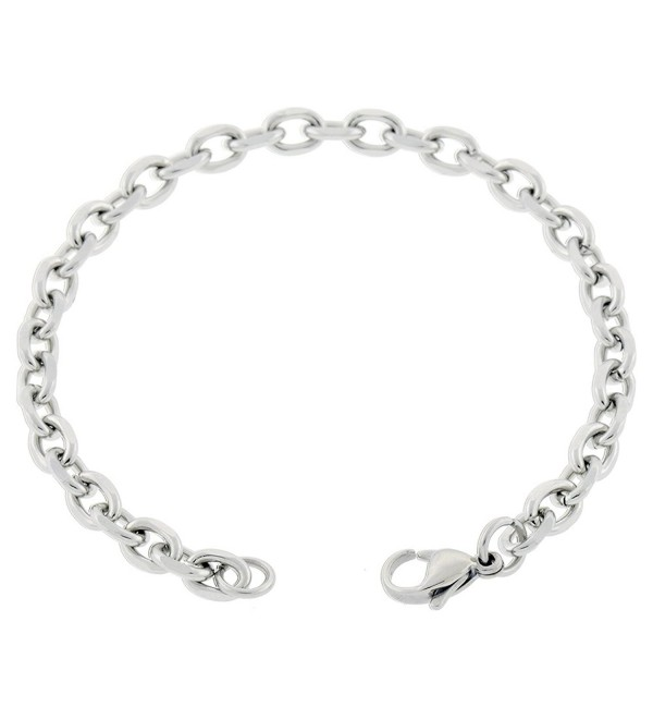 Women's Stainless Steel Anklet Made From 5mm Cable Chain 7in to 14in - CD125V7YRGL