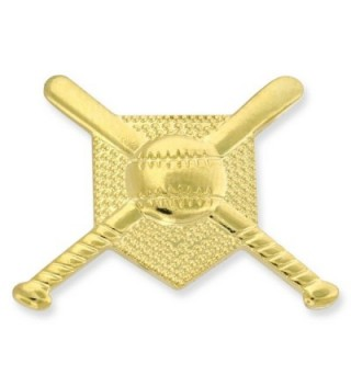 Gold Baseball Diamond Gold Chenille Sports Lapel Pin - CF11KJ0GCK5