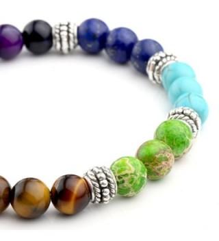 Top Plaza Gemstone Meditation Bracelet in Women's Charms & Charm Bracelets