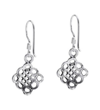Sterling Silver Alluring Celtic Earrings in Women's Drop & Dangle Earrings