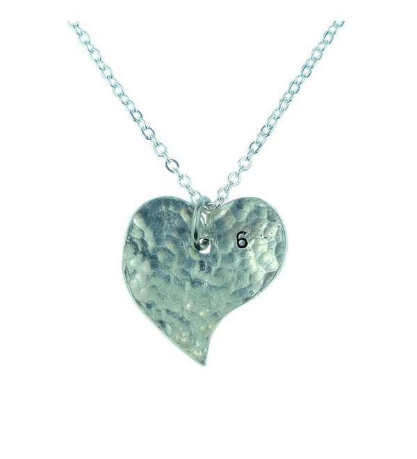 6th Year Anniversary Heart Necklace - Great 6th Anniversary Gift for Your Wife - CX12IP92FNJ