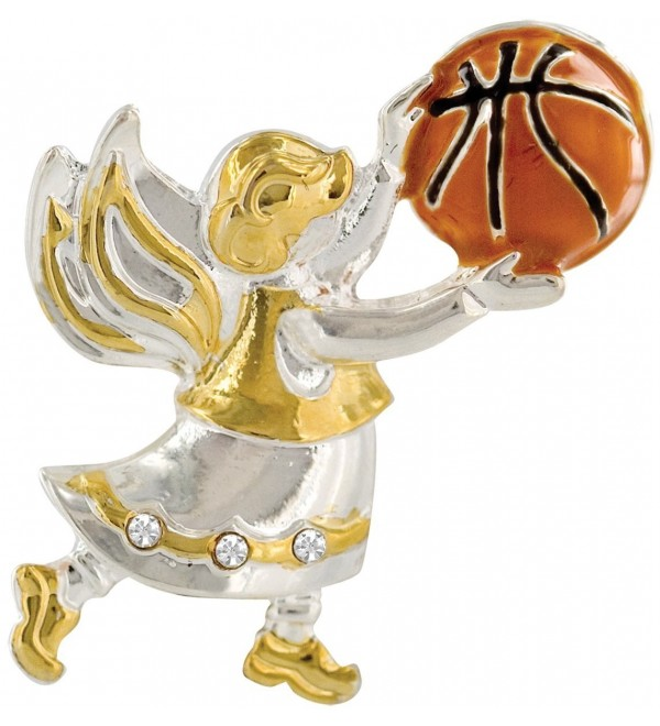 Wings and Wishes Angel Tac Pin- Basketball Angel - CC11Q4XX8WV