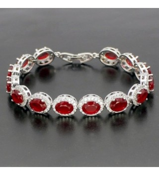 Ladies Tennis Bracelet Sapphire Emerald in Women's Charms & Charm Bracelets