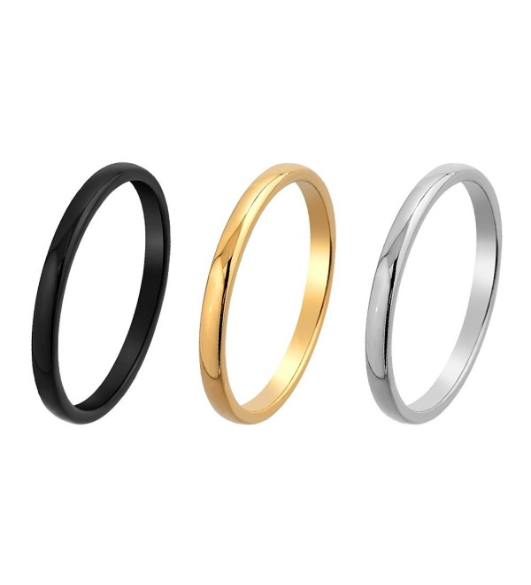 MRing 2mm Tungsten Unisex Ring Wedding Band Ring - colour gold - CZ12L2KYDZ1
