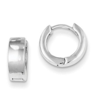 925 Sterling Silver Polished Huggie Style Hinged Hoop Earrings 4mm x 10mm - CB11FW4ZXET