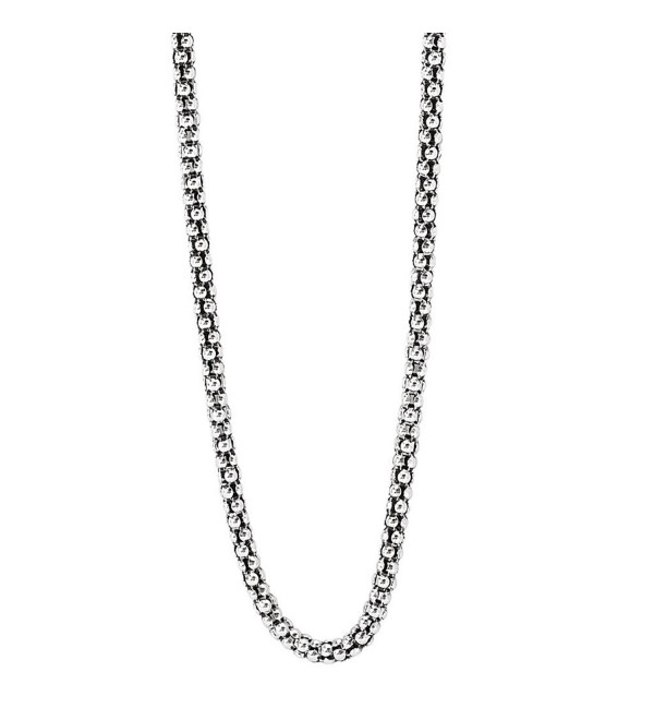 925 Silver Oxidized Popcorn Chain-2.0mm 18 - 20 or 24 IN - CM110QW4ZKP