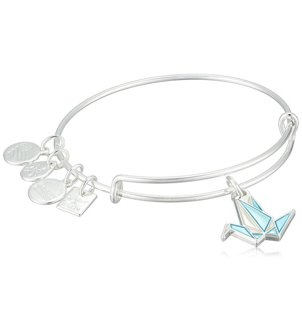 Alex and Ani Charity By Design- Paper Crane EWB Bangle Bracelet - Shiny Silver - CI185O9S4RQ